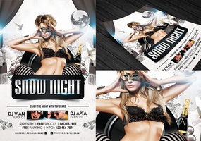 Link toSnow night flyer template
