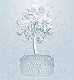 Link toSnow trees card vector