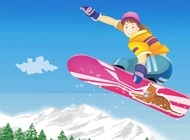 Link toSnowboard kid vector free