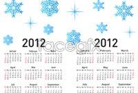 Link toSnowflake background calendar template vector
