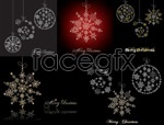 Link toSnowflake christmas ornaments vector