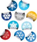 Snowflake sticker icons