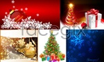 Link toSnowflakes and christmas drop back vector