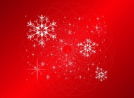 Link toSnowflakes card vector free