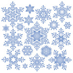 Link toSnowflakes vector material-2