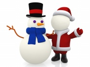 Link toSnowman and santa claus pictures