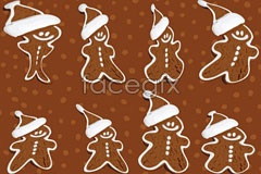 Link toSnowman chocolate biscuit background vector