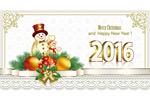 Link toSnowman new year card vector