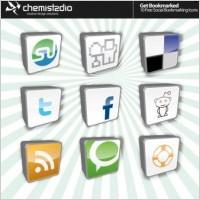 Link toSocial bookmark vector icons, rss vector icon, facebook vector icons, twitter vector icon, stumbleopen vector icon, adobe illustrator ai icon