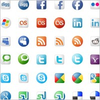 Link toSocial bookmarks icon set icons pack
