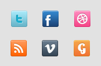 Link toSocial icons psd
