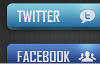 Link toSocial media and email buttons psd