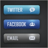 Link toSocial media and email buttons