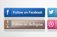 Link toSocial media buttons psd
