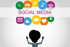 Link toSocial media cartoon icon vector