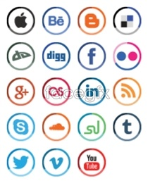 Link toSocial media design icons