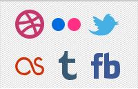 Link toSocial media glyphs psd