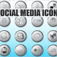 Link toSocial media icons silver