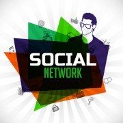 Link toSocial network and people idea business background 02 free