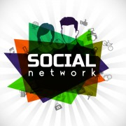 Link toSocial network and people idea business background 04 free