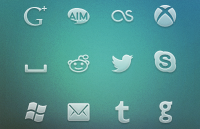 Link toSocial network icons psd