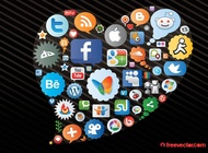 Link toSocial network icons vector free