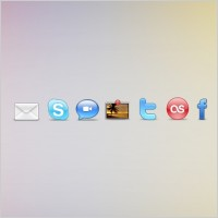 Link toSocial networking set icons pack