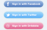 Link toSocial sign in buttons psd