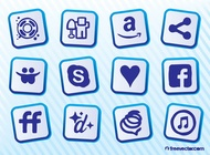 Link toSocial sites vector free