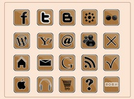 Link toSocial web icons vector free