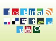 Social web vector logos free