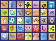 Link toSocial web vectors free