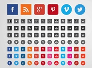 Link toSocial websites icons vector free