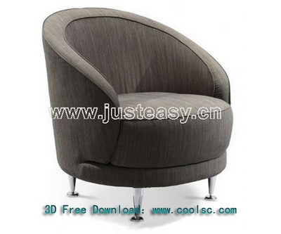 Link toSoft sofa 3d model fashion circular (including materials)