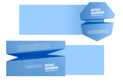 Link toSolid light blue paper banner vector