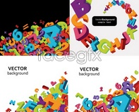 Link toSolid numbers alphabet vector