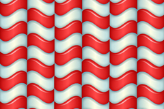 Link toSolid red-and-white curved background vector