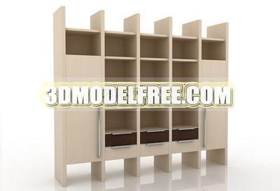Link toSolid wood wardrobe cabinets bedside lockers tv cabinet 3d model