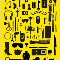 Link toSophisticated tools silhouette vector