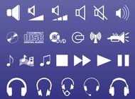 Link toSound and music icons vector free