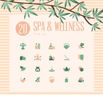 Spa spa at icon vector