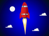 Link toSpace rocket vector free