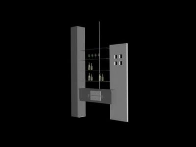 Link toSpace saving display shelf model 3d model