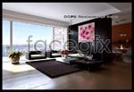 Spacious living room models 3d model