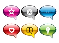 Speech bubbles icons vector free