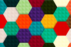 Spell color hexagon lattice vector background