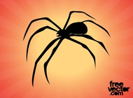 Link toSpider silhouette graphics vector free