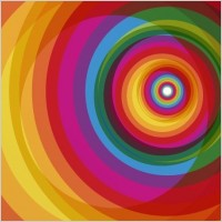 Link toSpiral rainbow vector background
