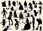 Link toSpirit monster silhouette vector