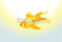 Link toSpit bubble goldfish vector